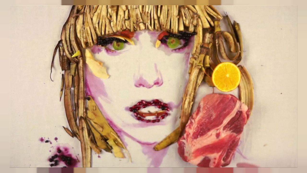 Портреты из продуктов питания