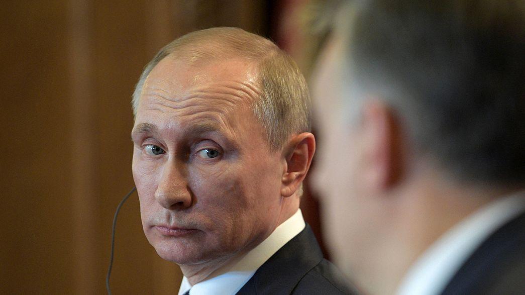 Hungria-Rússia: Putin encontra-se com o maior aliado da UE