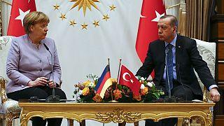 Almanya Başbakanı Merkel Erdoğan ile görüştü
