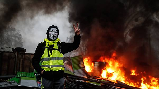 Image: A 'Yellow Vests' protester