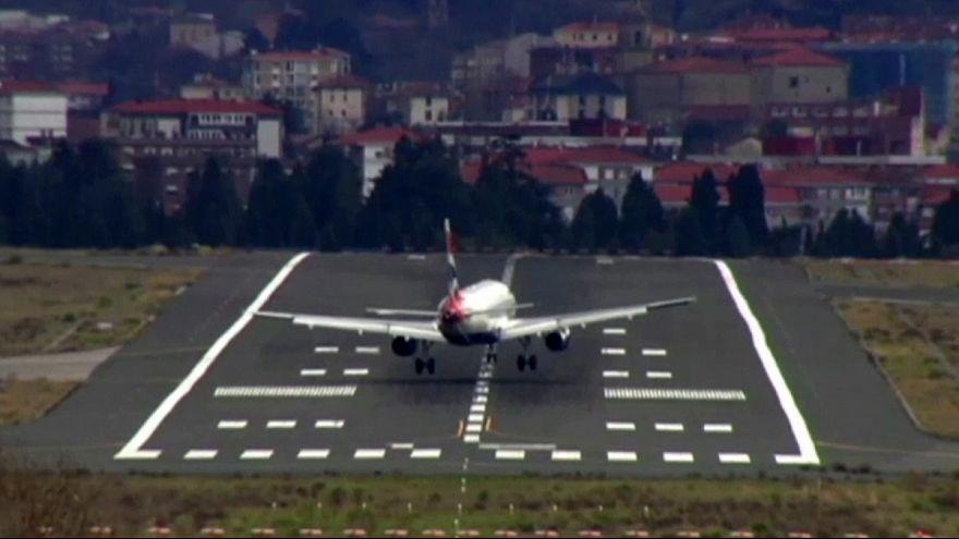 Espanha: Aterragem difícil no meio de rajadas de vento