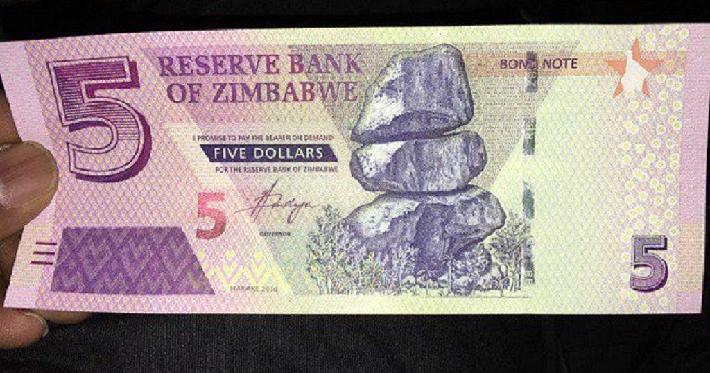 Zimbabwe Introduces Fresh 5 Bond Notes