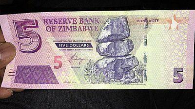 Zimbabwe introduces fresh $5 bond notes to ease cash crunch