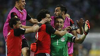 Egypt celebrate Afcon progression after semi-final win [no comment]