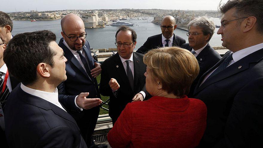 L'Europa fa mostra di unità nel vertice a Malta