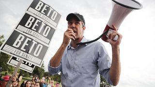 Image: Beto O'Rourke Campaigns In Waco And Austin, Texas