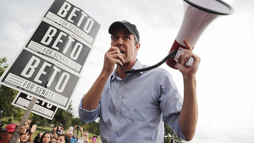 Image: Beto O'Rourke Campaigns In Waco And Austin, Texas