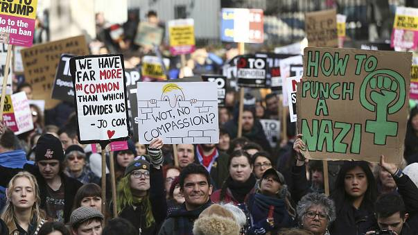 London, Paris, Sydney: Demonstrationen gegen Trump