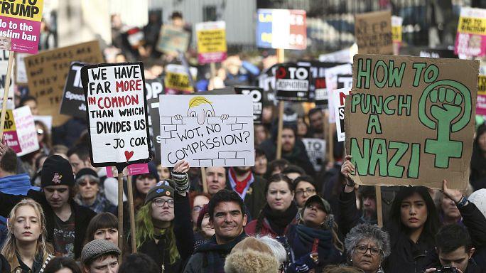 'Make America Think Again': anti-Trump rallies take place worldwide