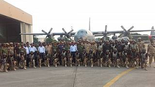 Nigerian force in The Gambia operation to oust Jammeh returns home