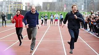 Prince Harry beats Duke and Duchess of Cambridge in sprint