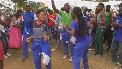 Cameroun: accueil triomphal pour les lions indomptables