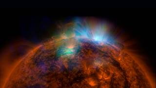 Image: X-rays stream off the sun in an image taken by NASA's Nuclear Spectr