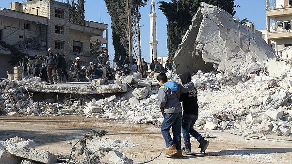 Airstrikes kill dozens in Syrian rebel-held Idlib