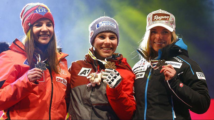 التزلج الألبي : شميدوفر تحرز اول لقب لها في بطولة العالم
