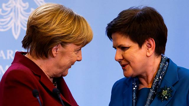 Leaders of Germany, Poland hold talks on EU's future