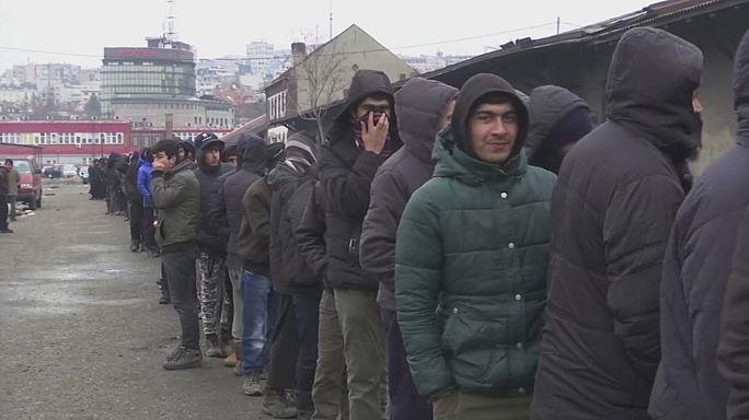 Difíceis condições para migrantes às portas da Europa