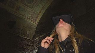 Ο Νέρωνας και το Χρυσό Παλάτι του πρωταγωνιστές σε εικονική περιήγηση