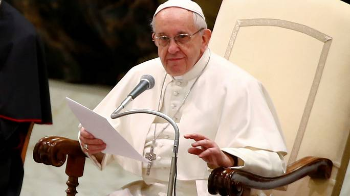 Pope slams people trafficking and Rohingya abuse