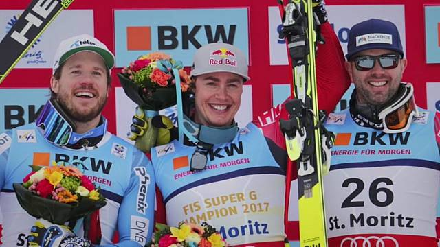 Erik Guay wins Super-G Gold
