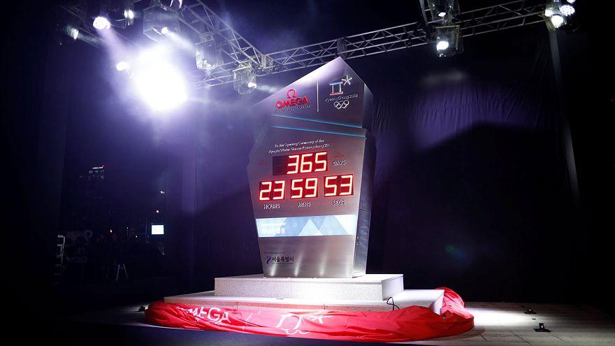 Olimpiadi invernali 2018: a Seul inaugurato l'orologio del count down