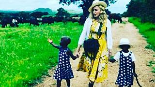 Grateful Madonna shares photo of her Malawian twin girls on Instagram