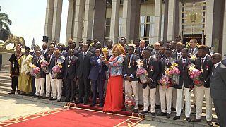 Le Cameroun célèbre ses champions d'Afrique