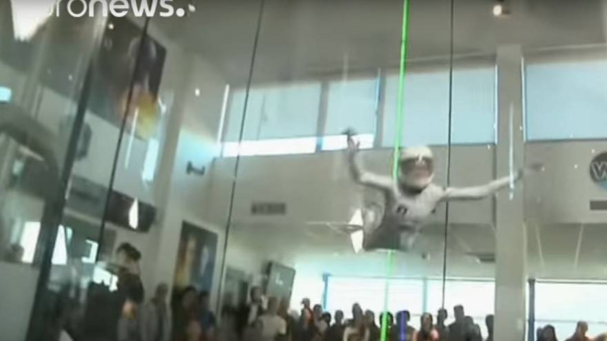 WATCH: Teen crowned 'world's fastest flyer' in indoor skydiving contest
