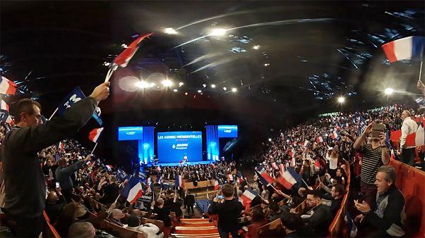 Vidéo 360° : une plongée au coeur des meetings de Macron, Mélenchon et Le Pen