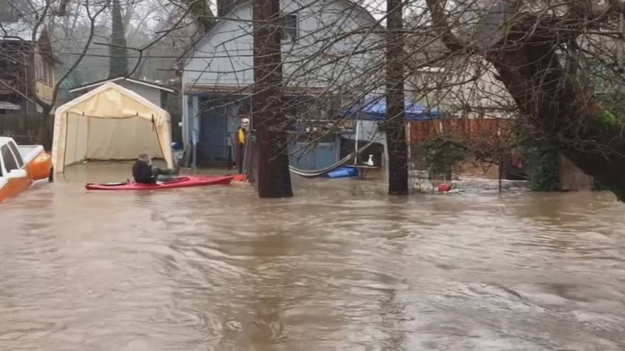 New California storm brings flooding, mudslides