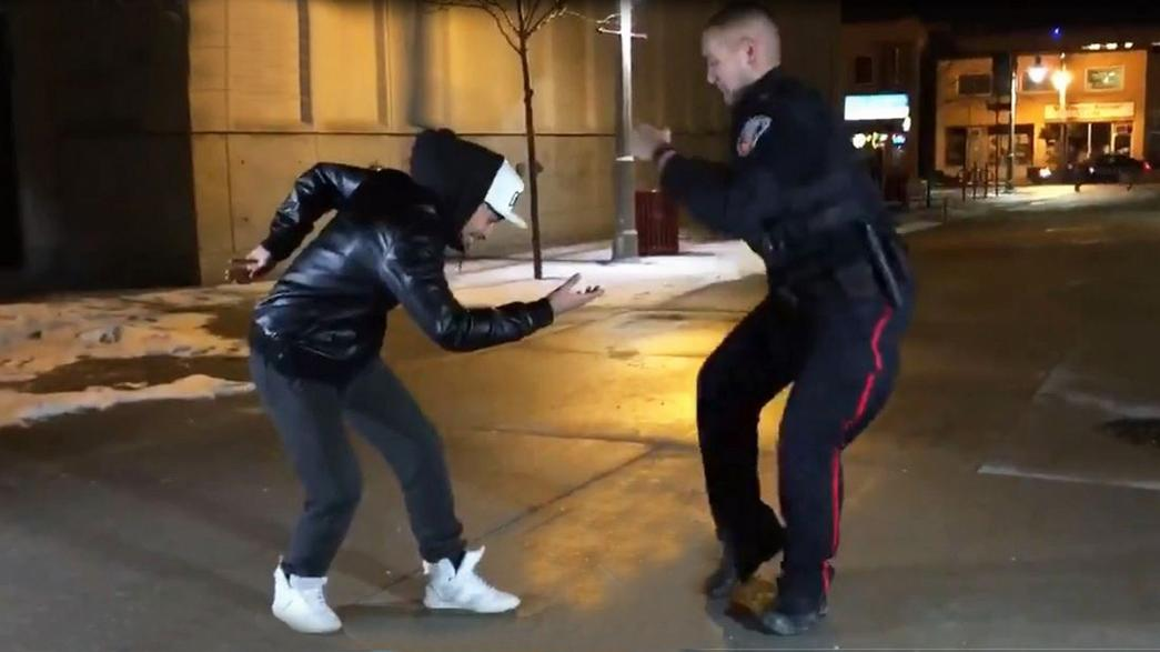 Ontario police officer busts moves in dance-off