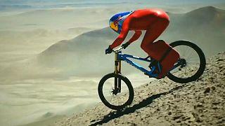 Biciklis gyorsasági rekord a sivatagban