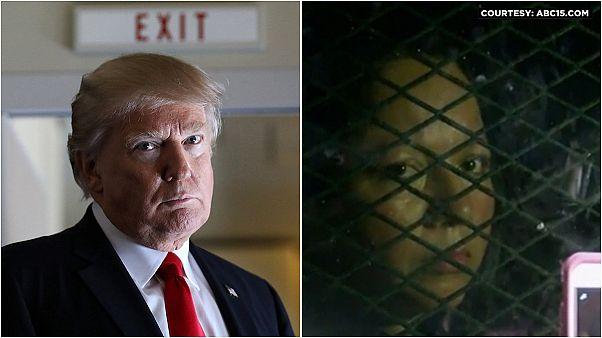 آغاز برنامه ترامپ برای اخراج مهاجران غیرقانونی: اخراج یک زن مکزیکی