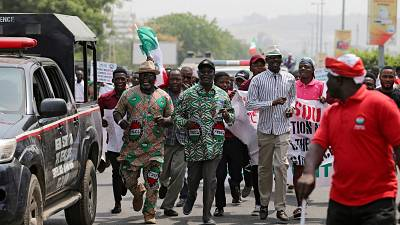 Protests rock Nigerian capital over crippling economy