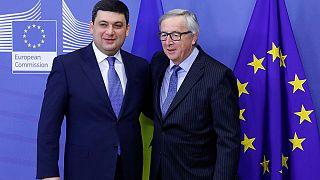 Primeiro-ministro da Ucrânia recebe novos apoios de Bruxelas