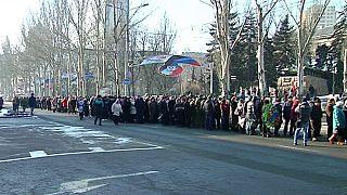 Donyeckben sokan gyászolják a megölt szakadár vezetőt