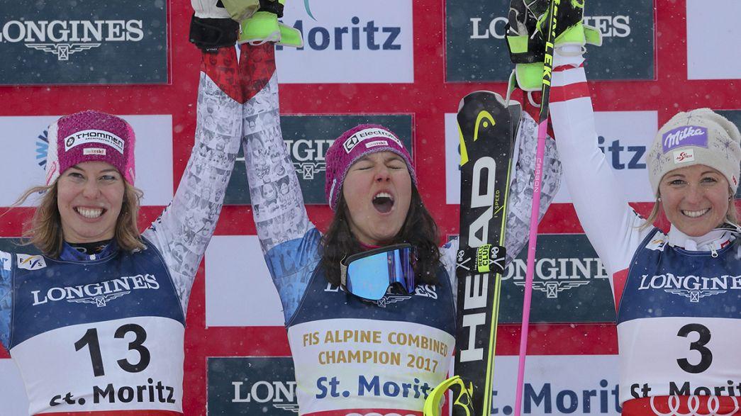 Esqui alpino: Holdener e Gisin conquistam ouro e prata na prova combinada feminina