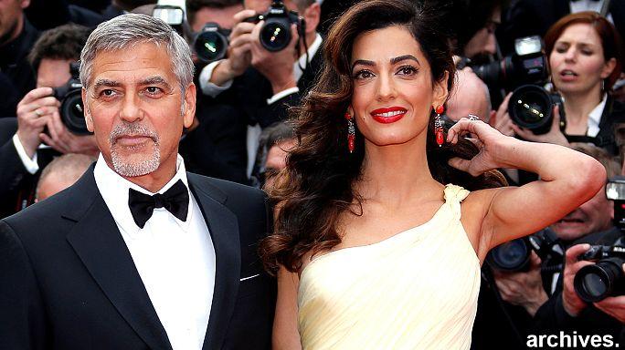 Carnet rose pour le couple Clooney