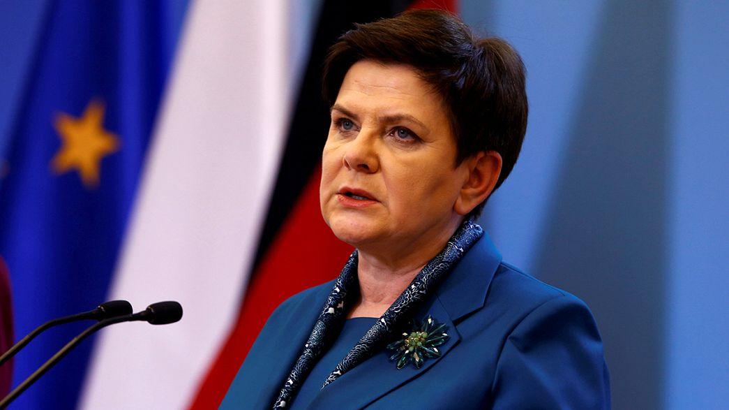 Polónia: primeira-ministra envolvida em acidente de viação
