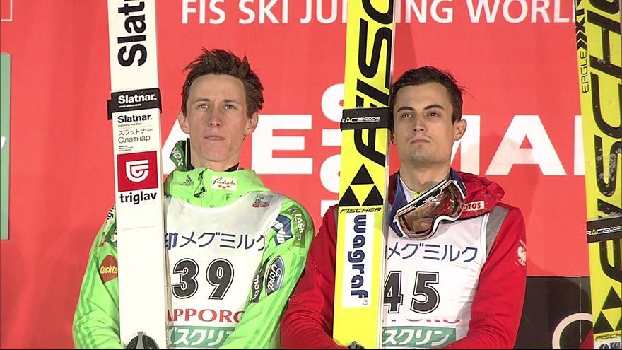 Salto sci, CdM: a Sapporo vittoria per due! Trionfano Kot e Prevc