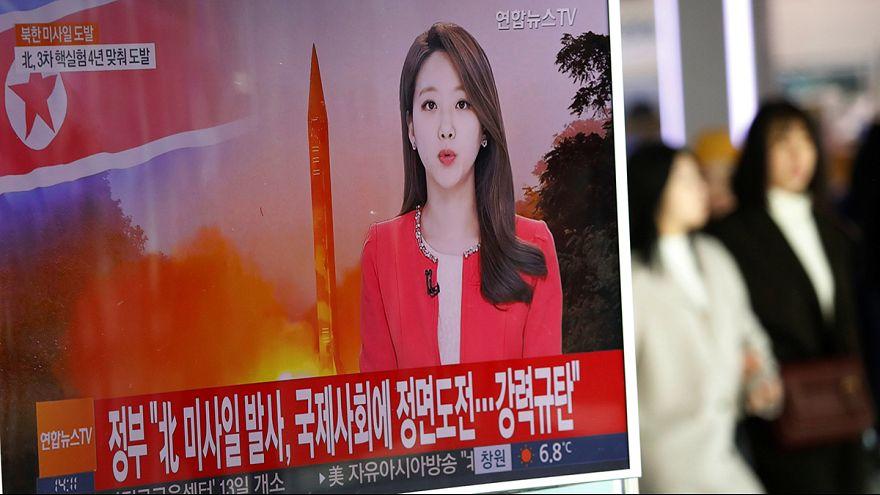 EUA, Japão e Coreia do Sul criticam novo teste de míssil norte-coreano