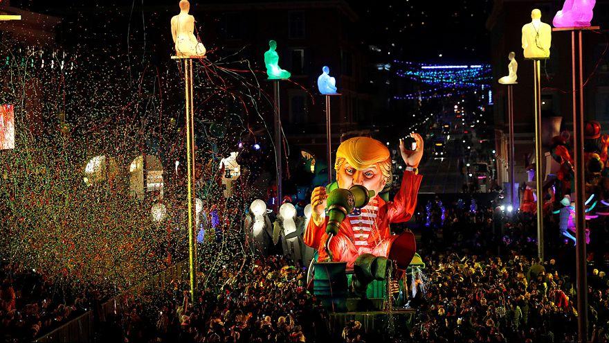 Coup d'envoi des carnavals de Nice et de Venise