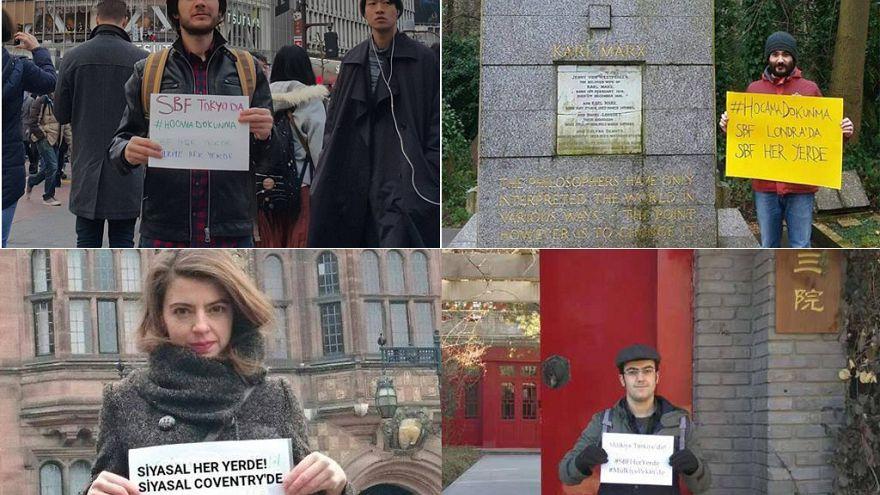 İhraç edilen akademisyenler için dünyanın farklı şehirlerinden 'hocama dokunma' kampanyası