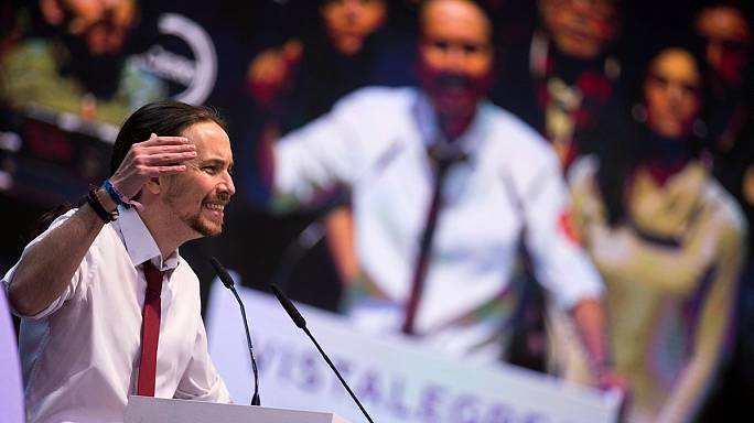 Spain's Podemos party re-elects Iglesias as leader, rejects move to the centre