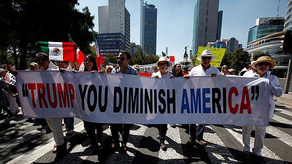 Los mexicanos responden a los ataques de Trump con protestas en 20 ciudades