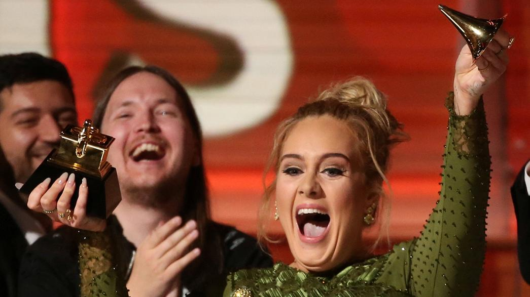 Adele edges out Beyoncé for top Grammy accolades