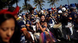 Brazil: pre-carnival festivities in Rio de Janeiro