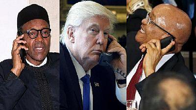 Donald Trump échangera ce lundi avec les présidents Zuma et Buhari