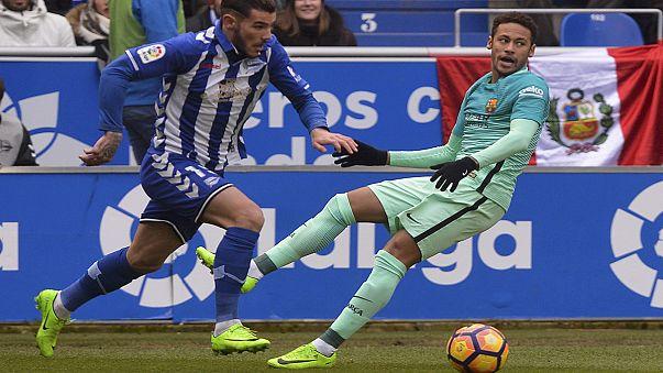 ذوكورنر: برشلونة يطيح بديبورتيفو ألافيس في الليغا قبل مواجهة نهائي كأس الملك