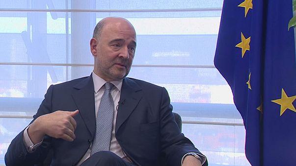 """""""La salida de Grecia de la zona euro no es una opción"""", asegura Moscovici"""
